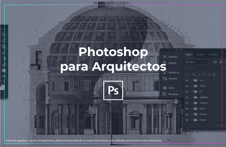 Curso photoshop para arquitectos edici n de perspectivas for Curso arquitectura software